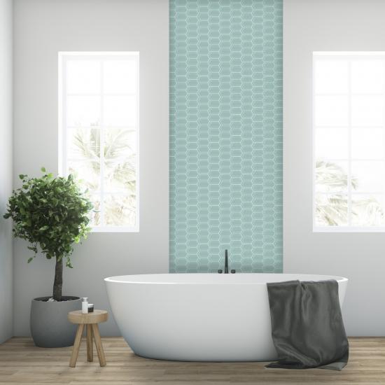 Light Blue Mosaic Wall Tiles - Grace Collection